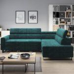 Rozkładana kanapa w pokoju dziennym